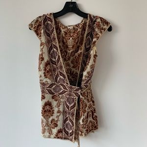 Plenty Brown Silk Top Size 4
